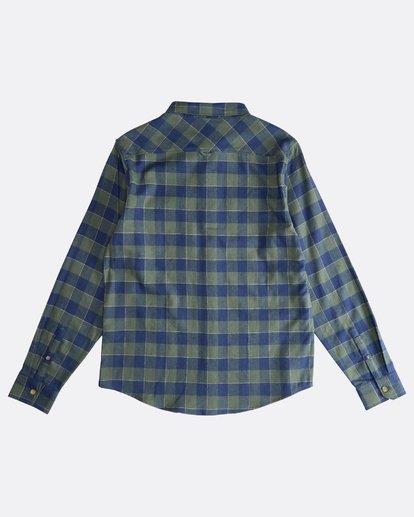 1 All Day - Camisa de Franela de Manga Larga para Hombre Verde Q1SH03BIF9 Billabong