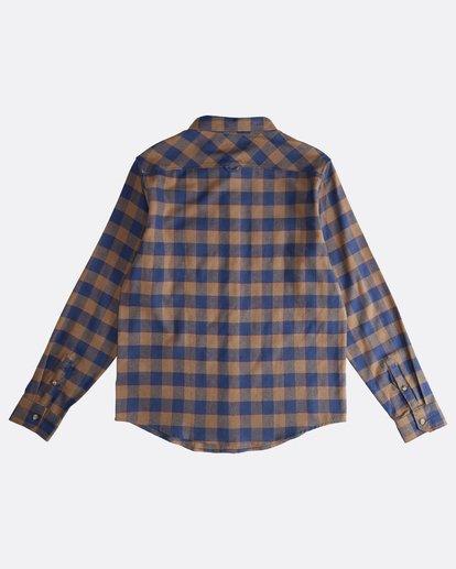 1 All Day - Langärmeliges Flanell-Hemd für Männer Braun Q1SH03BIF9 Billabong