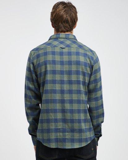 5 All Day - Camisa de Franela de Manga Larga para Hombre Verde Q1SH03BIF9 Billabong