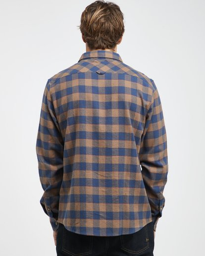 5 All Day - Camisa de Franela de Manga Larga para Hombre Marron Q1SH03BIF9 Billabong