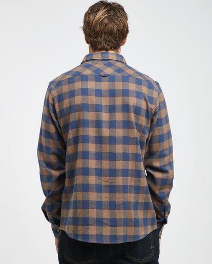 5 All Day - Langärmeliges Flanell-Hemd für Männer Braun Q1SH03BIF9 Billabong