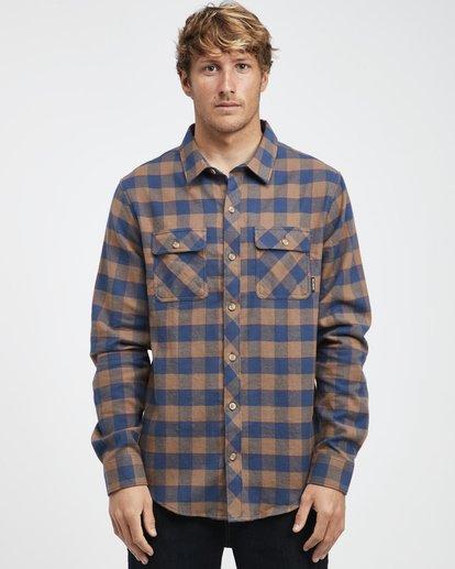 4 All Day - Langärmeliges Flanell-Hemd für Männer Braun Q1SH03BIF9 Billabong
