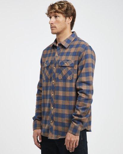 6 All Day - Langärmeliges Flanell-Hemd für Männer Braun Q1SH03BIF9 Billabong