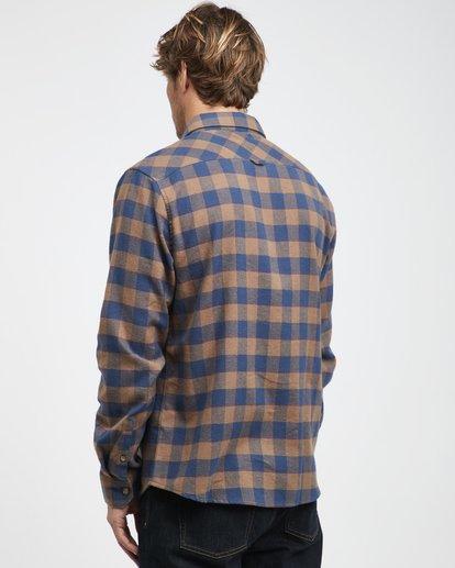 7 All Day - Langärmeliges Flanell-Hemd für Männer Braun Q1SH03BIF9 Billabong