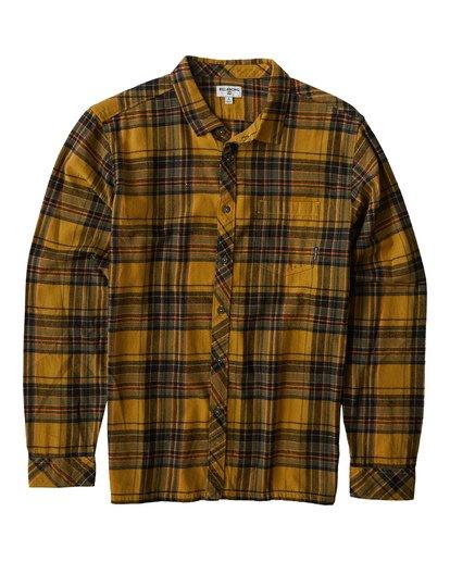 3 Coastline - Langärmeliges Hemd für Männer Silber Q1SH04BIF9 Billabong