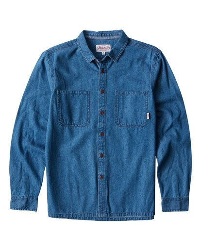 97 Workwear - Denim Long Sleeves Shirt for Men  Q1SH08BIF9