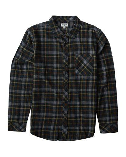 3 Fremont - Flanell Hemd für Männer Schwarz Q1SH13BIF9 Billabong