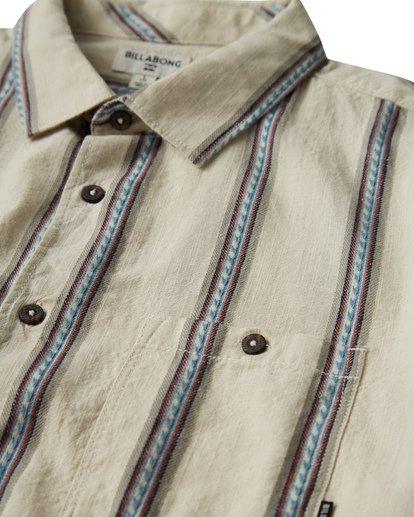 4 Sundays - Camisa de Manga Corta Jaquard para Hombre Blanco Q1SH15BIF9 Billabong
