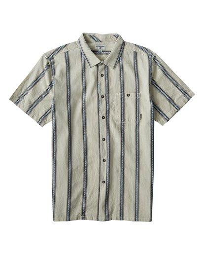 3 Sundays - Camisa de Manga Corta Jaquard para Hombre Blanco Q1SH15BIF9 Billabong