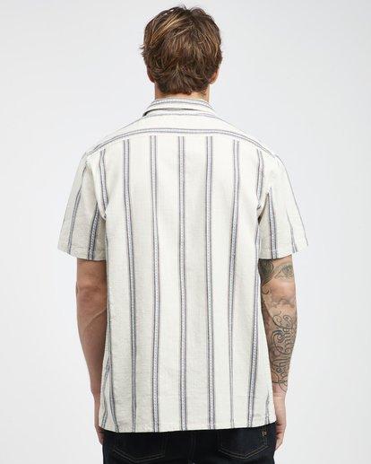 7 Sundays - Camisa de Manga Corta Jaquard para Hombre Blanco Q1SH15BIF9 Billabong