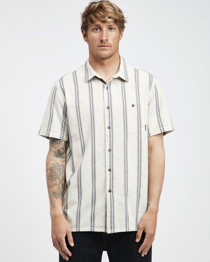 6 Sundays - Jaquard Kurzärmeliges Hemd für Männer Weiss Q1SH15BIF9 Billabong