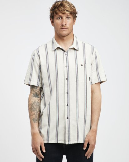 6 Sundays - Camisa de Manga Corta Jaquard para Hombre Blanco Q1SH15BIF9 Billabong