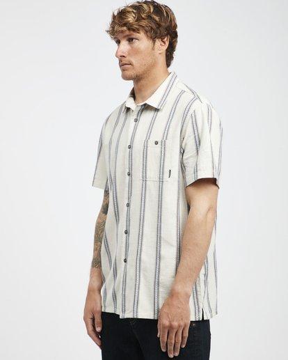 8 Sundays - Jaquard Kurzärmeliges Hemd für Männer Weiss Q1SH15BIF9 Billabong