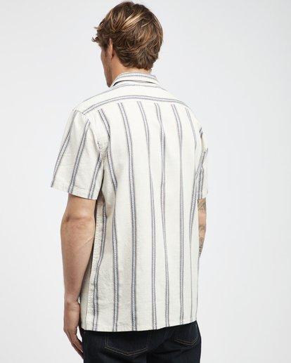 9 Sundays - Jaquard Kurzärmeliges Hemd für Männer Weiss Q1SH15BIF9 Billabong