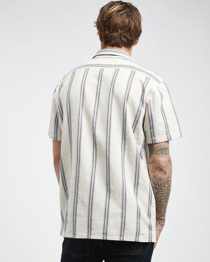 1 Sundays - Camisa de Manga Corta Jaquard para Hombre Blanco Q1SH15BIF9 Billabong