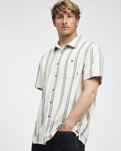 2 Sundays - Camisa de Manga Corta Jaquard para Hombre Blanco Q1SH15BIF9 Billabong