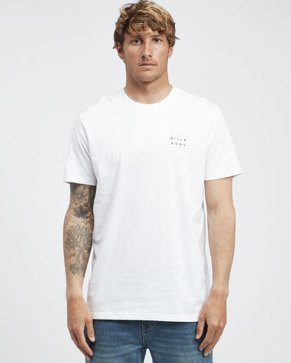 6 Die Cut - Camiseta de Manga Corta para Hombre Blanco Q1SS01BIF9 Billabong