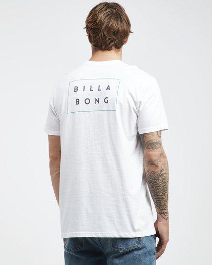 3 Die Cut - Camiseta de Manga Corta para Hombre Blanco Q1SS01BIF9 Billabong