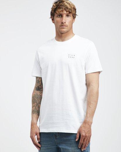 2 Die Cut - Camiseta de Manga Corta para Hombre Blanco Q1SS01BIF9 Billabong