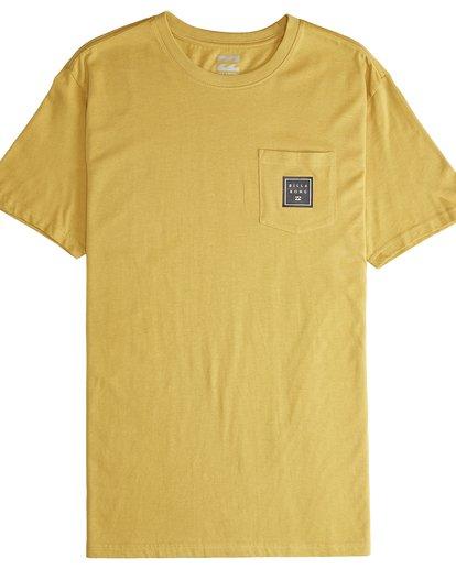 4 Stacked - T-Shirt für Männer Gelb Q1SS05BIF9 Billabong