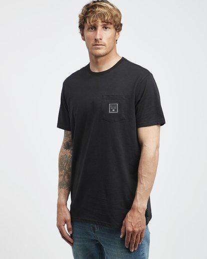 2 Stacked - T-Shirt für Männer Schwarz Q1SS05BIF9 Billabong