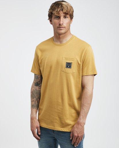 2 Stacked - T-Shirt für Männer Gelb Q1SS05BIF9 Billabong