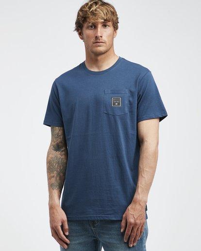 2 Stacked - T-Shirt für Männer Blau Q1SS05BIF9 Billabong