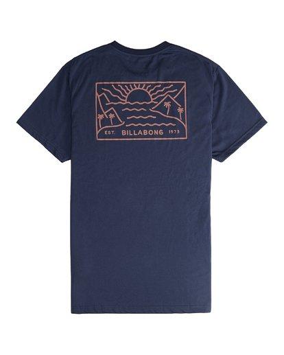 6 Beach Path - T-Shirt à manches courtes pour Homme Bleu Q1SS12BIF9 Billabong