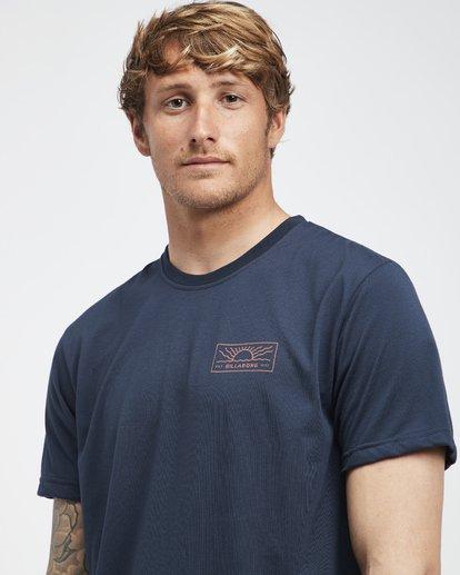 4 Beach Path - T-Shirt à manches courtes pour Homme Bleu Q1SS12BIF9 Billabong
