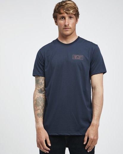 2 Beach Path - T-Shirt à manches courtes pour Homme Bleu Q1SS12BIF9 Billabong