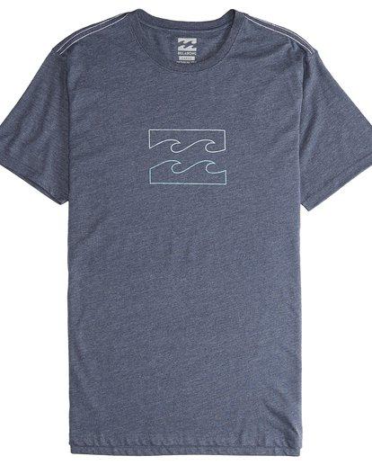 4 Wave - Camiseta de Manga Corta para Hombre Azul Q1SS14BIF9 Billabong