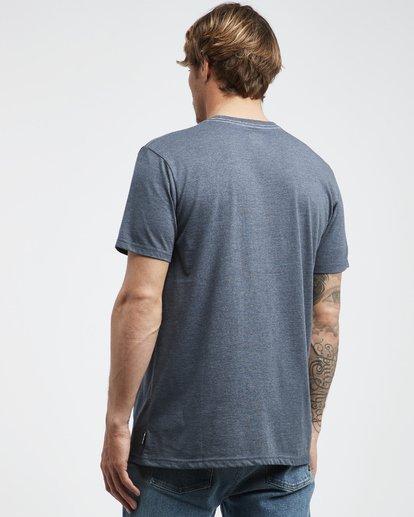 3 Wave - Camiseta de Manga Corta para Hombre Azul Q1SS14BIF9 Billabong