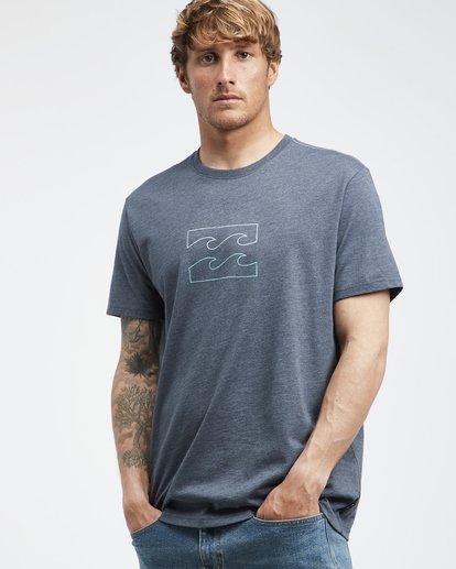 2 Wave - Camiseta de Manga Corta para Hombre Azul Q1SS14BIF9 Billabong