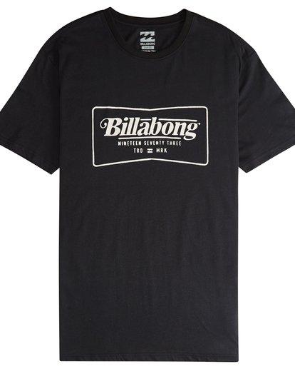 4 Trade Mark - Camiseta de Manga Corta para Hombre Negro Q1SS16BIF9 Billabong