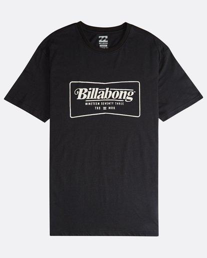 0 Trade Mark - Camiseta de Manga Corta para Hombre Negro Q1SS16BIF9 Billabong
