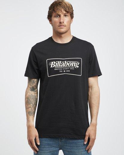 6 Trade Mark - Camiseta de Manga Corta para Hombre Negro Q1SS16BIF9 Billabong