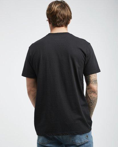 3 Trade Mark - Camiseta de Manga Corta para Hombre Negro Q1SS16BIF9 Billabong