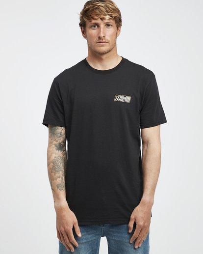 6 Super 8 - Camiseta de Manga Corta para Hombre Negro Q1SS17BIF9 Billabong