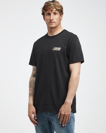 2 Super 8 - Camiseta de Manga Corta para Hombre Negro Q1SS17BIF9 Billabong