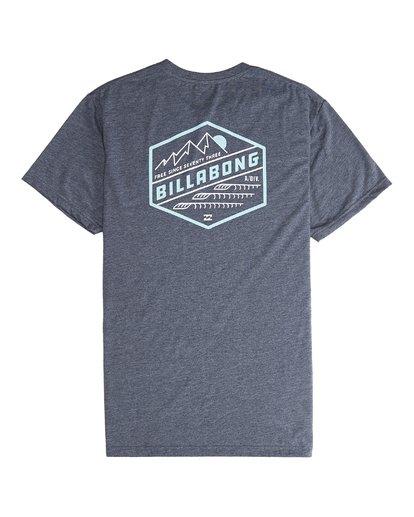 6 Ridge - Camiseta de Manga Corta para Hombre Azul Q1SS18BIF9 Billabong