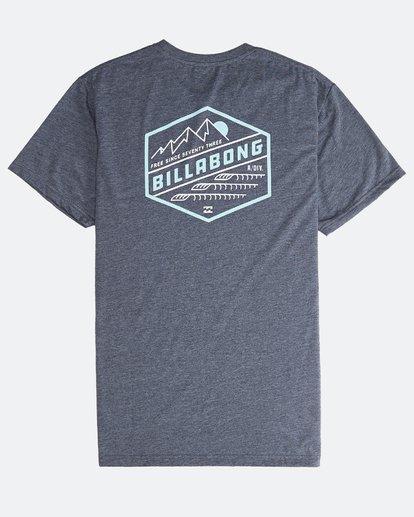 1 Ridge - Camiseta de Manga Corta para Hombre Azul Q1SS18BIF9 Billabong