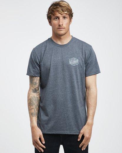 7 Ridge - Camiseta de Manga Corta para Hombre Azul Q1SS18BIF9 Billabong