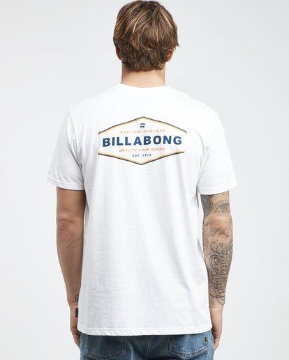 7 Vista - Camiseta de Manga Corta para Hombre Blanco Q1SS19BIF9 Billabong