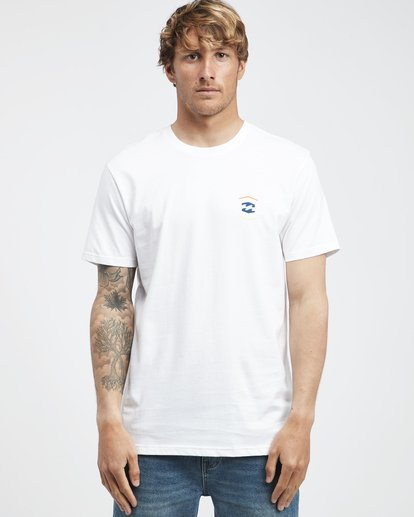 6 Vista - Camiseta de Manga Corta para Hombre Blanco Q1SS19BIF9 Billabong