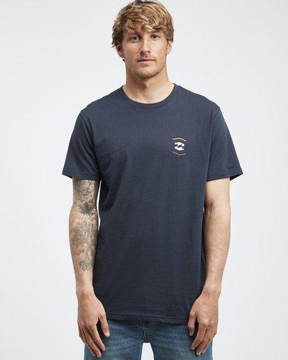 6 Vista - Camiseta de Manga Corta para Hombre Azul Q1SS19BIF9 Billabong