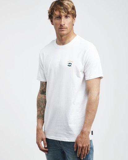 2 Vista - Camiseta de Manga Corta para Hombre Blanco Q1SS19BIF9 Billabong