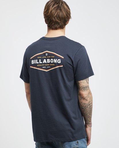3 Vista - Camiseta de Manga Corta para Hombre Azul Q1SS19BIF9 Billabong