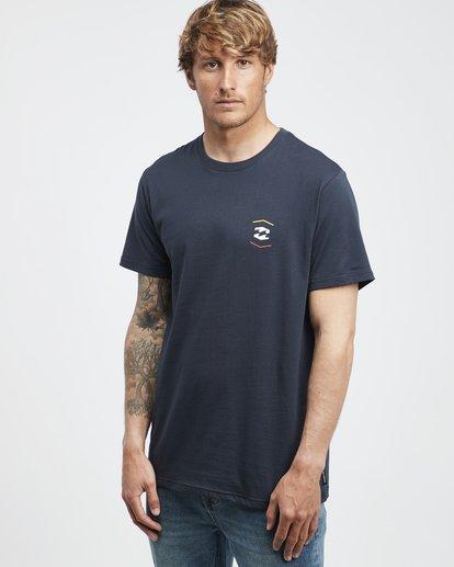 2 Vista - Camiseta de Manga Corta para Hombre Azul Q1SS19BIF9 Billabong