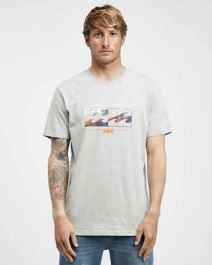 6 Inversed - T-Shirt für Männer Grau Q1SS22BIF9 Billabong