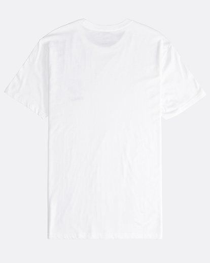 1 Island - Camiseta de Manga Corta para Hombre Blanco Q1SS27BIF9 Billabong